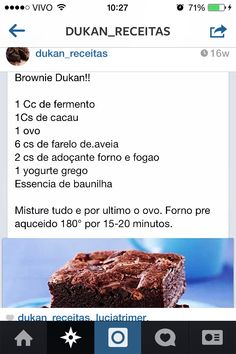 Brownie - Dieta Dukan