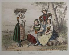 dirndl 1850 - schweizerisch