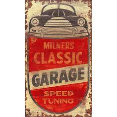 Vintage Signs Milner's Vintage Advertisement Plaque