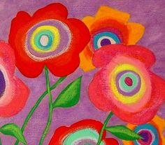 Modern Folk Art FLOWERS in Pots Original by johnblakefolkartist Folk Art Flowers, Flower Art, John Blake, Original Paintings, Original Art, Acrylic Painting Flowers, Homemade Art, Canvas Designs, Arte Floral