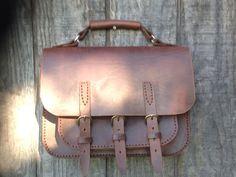 af86cde23ac8 Handmade Leather Briefcase , Reserved For Sheila. Serviette En CuirSac ...