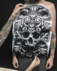 About to start this front piece on my friend and fellow artist – Bag Ideas Backpiece Tattoo, Chicanas Tattoo, Tattoo Son, Medusa Tattoo, Tattoos Skull, Tattoo Drawings, Tribal Tattoos, Sleeve Tattoos, Chest Piece Tattoos