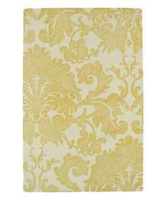 Another great find on #zulily! Gold Damask Wool Rug by Kaleen #zulilyfinds