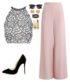 """""""Night out"""" by allieofficial on Polyvore featuring Zimmermann, Keepsake the Label, Vita Fede, Versace, Yves Saint Laurent and H&M"""