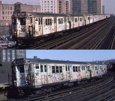 Old New York City Trains | Graffiti artist Cope2 uploaded some old images of his graffiti on New ...