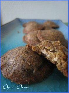 Petits biscuits de farine de lentille au fromage de chèvre