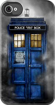 Made in USA, Great Case, Sharp image & Fast Shipping. Tardis doctor who - Tardis in the cloud iphone 4 4s, iPhone 3Gs, iPod Touch 4g case
