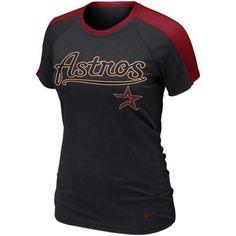 Nike Houston Astros Women's Premium Centerfield T-Shirt - Black