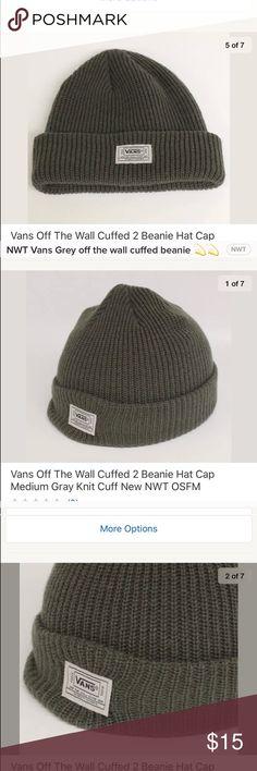 104d62579a0 NWT Vans off the wall grey beanie ⚡ NWT Vans off the wall grey beanie