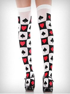 Alice in Wonderland Thigh Highs $10.00 @Plasticland Boutique. Adorable!
