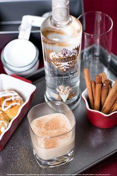 Cheeky Churro with 1 oz SMIRNOFF® Cinna-Sugar Twist™ Flavored Vodka, 0.5 oz BAILEYS® Vanilla Cinnamon Irish Cream Liqueur, 0.5 oz orange liqueur, and 0.5 oz light cream. Add ingredients to an ice-filled shaker. Shake and strain into a coupe glass. Garnish with grated cinnamon. #Smirnoff #drink #recipe #fall #thanksgiving #cinnamonsugar #dessert
