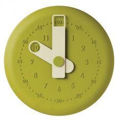 'present orologio da parete verde (present wall clock green) from viceversa