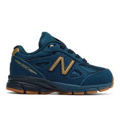 New Balance 990v4 Kids' Infant Running Shoes - Blue (KJ990JGI)