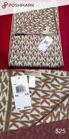 Scarf Michael Kors Scarf 10.5 inches in width and 68 inches in length, still has tags never worn Michael Kors Accessories