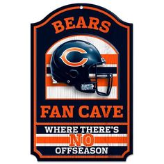 NFL Chicago Bears 11-by-17 inch Fan Cave No Offseason Wood Sign by WinCraft. $17.99. NFL Chicago Bears 11-by-17 inch Fan Cave No Offseason Wood Sign