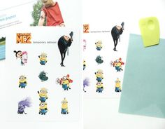 Despicable Me 2 Party: Tattoos {free printable}