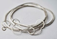 Julia Wright Jewellery, handmade hammered silver bangle