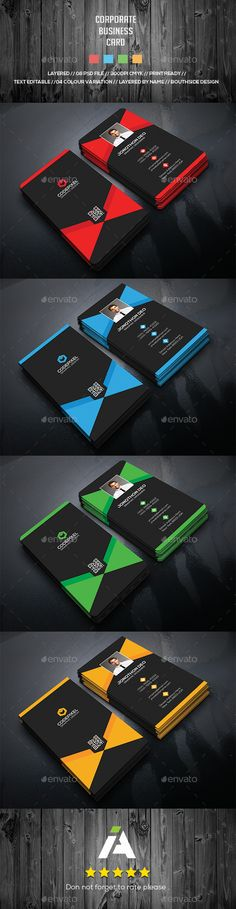 Corporate Business Card  - #Business Cards Print Templates Download here: https://graphicriver.net/item/corporate-business-card-/17429797?ref=classicdesignp