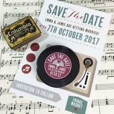Wedding Save The Date Magnets Complete with Backing Postcards. A wonderful way to ensure no one forgets your special day! These Save The Date Music Wedding Invitations, Wedding Stationery, Art Deco Wedding, Wedding Themes, Wedding Ideas, Wedding Music, Save The Date Magnets, Wedding Save The Dates, All The Colors