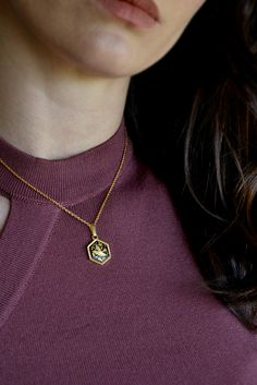 Celebrity en capas círculo de trabajo abierto Collar 24k Oro sobre plata esterlina