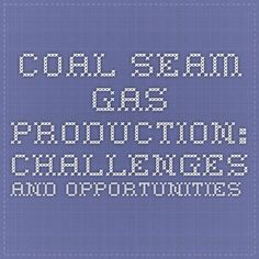 COAL SEAM GAS PRODUCTION: CHALLENGES AND OPPORTUNITIES