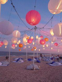 la fête sur la plage