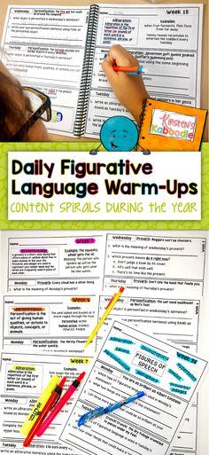 Are you a teacher looking for spiraling lesson on figures of speech?  These Figurative Language warm-ups contain 38 weeks of daily figurative language activities, 30 reference pages (related to metaphors, similes, idioms, hyperboles, proverbs, personification, alliteration, onomatopoeia), answer keys (13 pages), and a certificate of achievement or completion. You will truly be over the moon with this daily figurative language warm-up product!