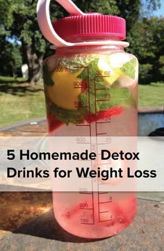 5 homemade detoxdrinks for weight loss