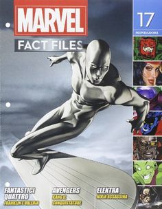 A character profile for Marvel Comics' Silver Surfer, former Herald of Galactus. Shiny pictures, short biography, powers, RPG stats, quotes, etc.