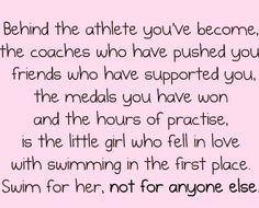 Swimming Quote (could easily be replaced with running)