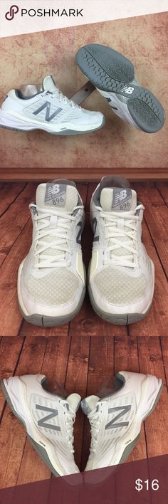 new style 2755f 18e8b New Balance 896 Wmns Sz 8 Tennis Court s150 Very clean preloved court shoes  showing heavy tread wear worn smooth on tread. These shoes have been pretty  well ...