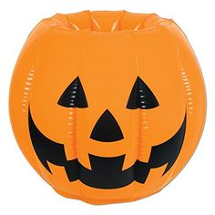 Pack Of 6 Inflatable JackOLantern Pumpkin Halloween Cooler 22    For More  Information, Visit
