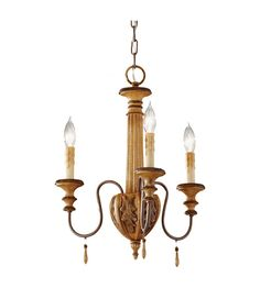 $111.60 3x 60watts 16Dia x 19.25H Feiss Annabelle 3 Light Mini Chandelier in Ivory Crackle F2735/3IC #lightingnewyork #lny #lighting