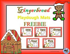 Freebie: Gingerbread Number Sense Playdough Mats 1-5