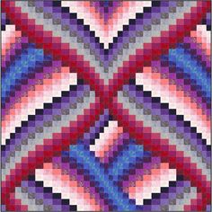 Past Tense bargello quilt pattern.  Designer: Jessica Smith - The Quilt and Needle