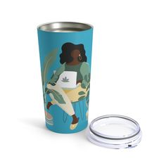 Plant Woman Tumbler - The Trini Gee