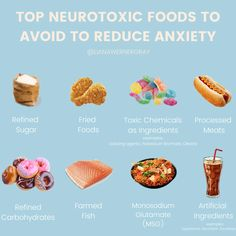 Reduce your stress and anxiety through the foods you eat! By eliminating these foods from your diet you will feel less anxious and have more mental clarity.