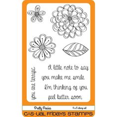 CAS-ual Fridays PRETTY POSIES Clear Stamps CFS1603