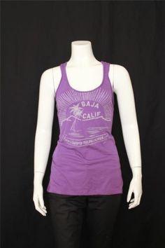 New Ralph Lauren Purple Scoop Neck Sleeveless Raceback Tank Top Size S