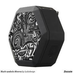 Black symbols Altavoz Altavoces Bluetooth Negros Boombot REX
