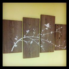 DIY barn wood wall art. #barnwood #DIY #wall #art #wood