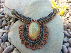 """Weiteres - Makrame Halskette """"Selva"""" - ein Designerstück von Mundo-Makramee bei DaWanda"""