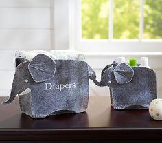 Elephant Changing Table Storage Set | Pottery Barn Kids