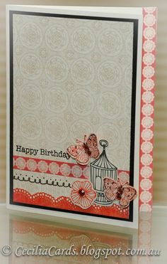 Cecilia's Cards: Cottage Butterflies