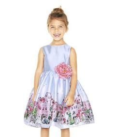 5dfdf9d2c59 Light Blue   Pink Village A-Line Dress - Toddler   Girls