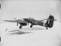 Vintage Aircrafts Westland Whirlwind Mark I HE-F 'Bellows Argentina No. - 263 Squadron RAF based at Colerne, Wiltshire, on the snow-covered airfield at Charmy Down, Somerset. Aircraft Photos, Ww2 Aircraft, Military Aircraft, Somerset, Westland Whirlwind, Raf Bases, Vintage Airplanes, Vintage Cars, Vintage Ideas