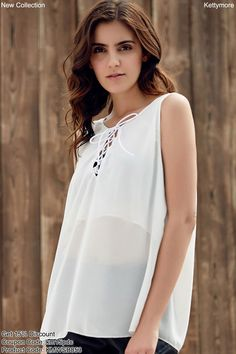 7e9730fa0af631 New Fashion Women Sleeveless V-Neck Tank Top Plus Size Chiffon Blouse shirts  Vintage tops. Ketty More