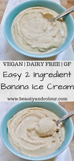 Easy instructions for how to make healthy and DELICIOUS vegan banana ice cream at home using just two ingredients! Make your own delicious and healthy vegan banana ice cream smoothie bowls with this quick and easy two ingredient dairy free recipe! Homemade Banana Ice Cream, Banana Ice Cream Healthy, Easy Ice Cream Recipe, Banana Nice Cream, Diy Ice Cream, Ice Cream Recipes, Banana Icecream Recipe, Healthy Homemade Icecream, Home Ice Cream