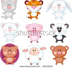 Find Cute Animals Cartoon Set Vector stock images in HD and millions of other royalty-free stock photos, illustrations and vectors in the Shutterstock collection. Thousands of new, high-quality pictures added every day. Cartoon Baby Animals, Cute Animals, Photoshop, Portfolio, Funny Comics, Vector Free, Vector Stock, Vector Vector, Mammals