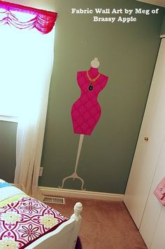 I would paint this!  Iron fabric to your walls for a quick, removable decor. In your consignment shop windows, your resale foyer, your thrift shop vignette: Too Good to be Threw loves quick, easy, cheap ways to make your shop stand out from the crowd!